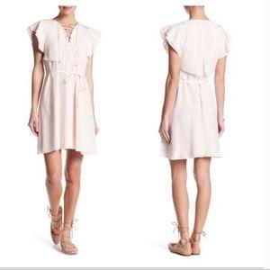The Kooples Flutter Sleeve Silk Dress Medium
